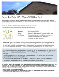 Save the Date | PUBTech@Stanford 2016